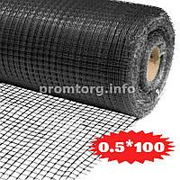 Сетка для птичников Ф-13 (яч.13мм*15мм) 0.5х100м цвет черный