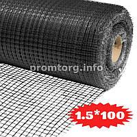 Сетка для птичников Ф-13 (яч.13мм*15мм) 1.5х100м цвет черный