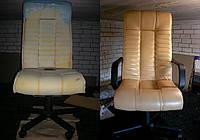 Перетяжка офисной мягкой мебели