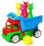 Игрушка машинка Алекс с кеглями зайцы Бамсик (089)