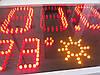 Часы-календарь термометр воздуха и воды красные, фото 4