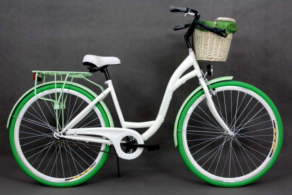 Велосипед Goetze 28 BLUEBERRY style LTD  +фара и корзина в подарок