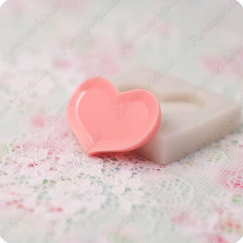 Силиконовый молд на тарелку в виде сердца, для полимерной глины