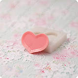 Силиконовый молд на тарелку в виде сердца, для полимерной глины, фото 3