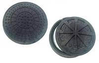 Канализационный люк полимер-песчаный садовый 1 т (А15 легкий)