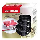 Набор форм для выпечки из 3шт сердечки Empire 9863, фото 3