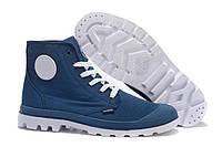 Мужские ботинки Palladium Pampa (паллаиум пампа) бело-синие