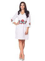 Белое платья с вышивкой (в размере S - 2XL), фото 1
