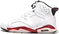 Баскетбольные кроссовки Air Jordan 6 Retro Chicago Bulls White, найк джордан