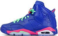 Баскетбольные кроссовки Air Jordan 6 Retro GS Game Royal, найк джордан