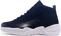 Баскетбольные кроссовки Air Jordan 12 Black Nylon, найк джордан