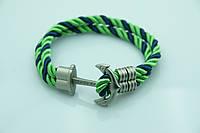Женский плетенный браслет в полоску. Бижутерия оптом RRR. 863