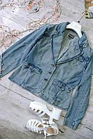 Пиджак джинс голубой