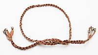 Тонкий удобный плетеный женский поясок-завязка