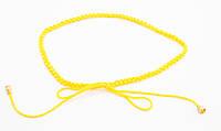 Оригинальный желтый плетеный женский поясок-завязка ручной работы