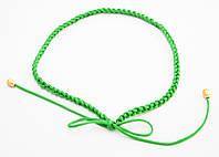 Оригинальный зеленый плетеный женский поясок-завязка ручной работы