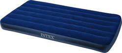 Матрас велюровый синий (без насоса) Intex 99*191*22 см (68757)