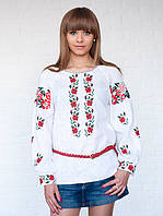 Льняная женская блуза с вышивкой