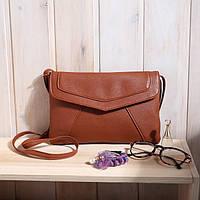 Женская сумка клатч конверт коричневого цвета