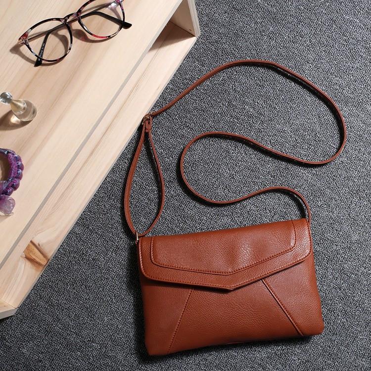 123cfd69969c ... Женская сумка клатч конверт коричневого цвета, фото 4 ...