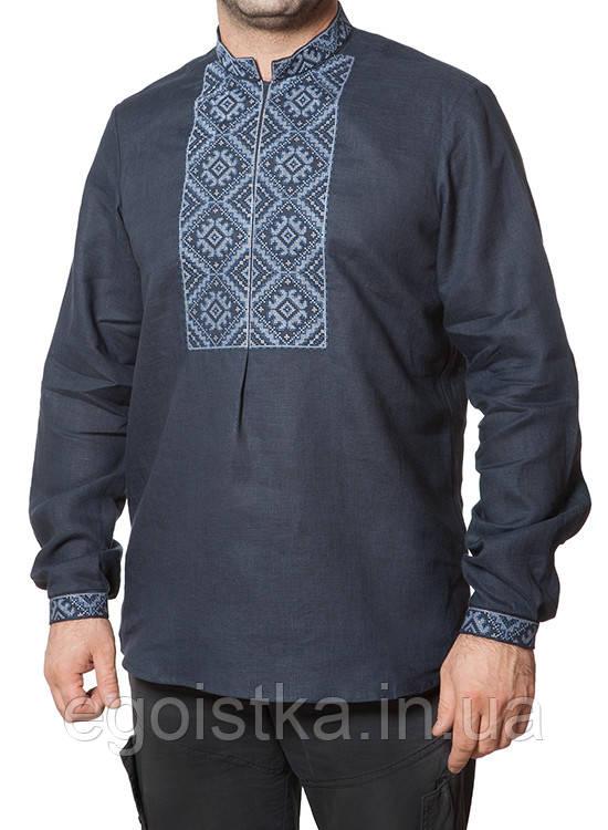 Элегантная мужская рубашка из льняной ткани - Интернет-магазин купальнков, белья, одежды - Эгоистка в Луцке