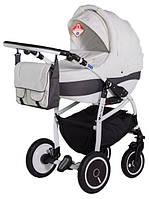 Детская коляска Adamex ACTIVE 518G белый(узор)-графит