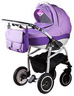 Детская коляска Adamex ACTIVE 995G сиреневый(меланж)-сиреневый