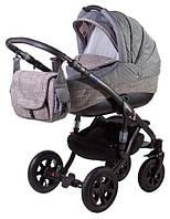 Детская коляска Adamex ERIKA ECO 603К серый-серый(лен)