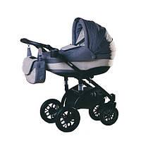 Детская коляска Adamex LARA ECO БЕЛАЯ РАМА 604K светлосерый-серый