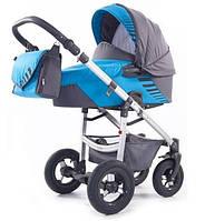 Детская коляска Tako JUMPER LIGHT MISA 04 (ЛЮЛЬКА ПЛАСТИК) голубой-серый