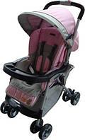Коляска прогулочная трость Everflo E-301 pink/grey