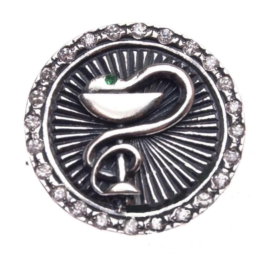 Значок Чаша со Змеей - Гиппократова Чаша, Символ Медицины, Фармацевтов, Медицинских Работников