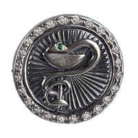 Значок Чаша со Змеей - Гиппократова Чаша, Символ Медицины, Фармацевтов, Медицинских Работников, фото 3