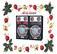 """Акустическая система AILIANG USBFM-613, музыкальные колонки 10""""+10""""/ USB/SD/FM, активная акустика"""