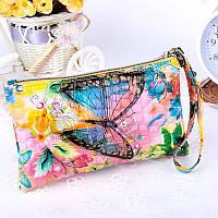 Женский клатч кошелек с принтом, фото 1
