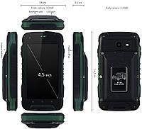 Jeep F605 PRO green Противоударный телефон с суппер батареей (АКБ 12000 мАч) , фото 1