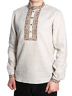 Лляна вишита чоловіча сорочка (у розмірі XL - 3XL)