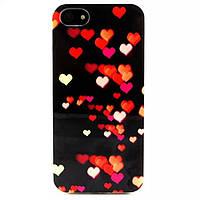 TPU чехол для iPhone 5 / 5S Сердечки