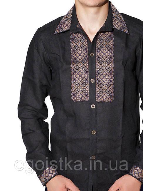 Вышитая мужская рубашка (в расцветках S, 3XL), фото 1