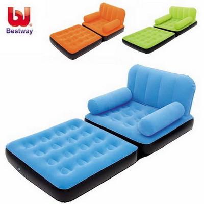 Надувное кресло-трансформер 2 в 1 Bestway 193х102х64 см (67277), фото 1