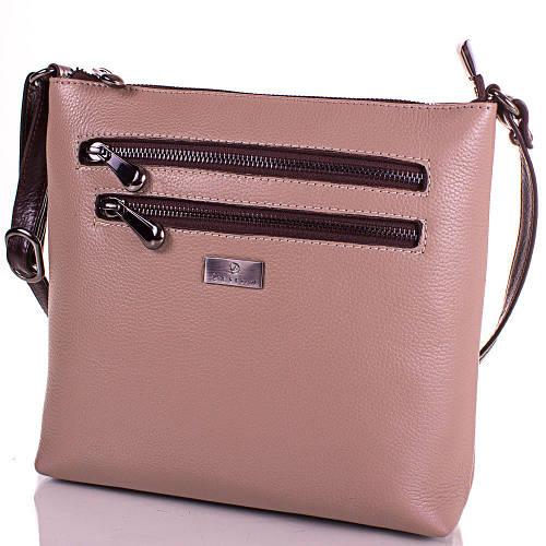 Практичная женская сумка из натуральной кожи DESISAN (ДЕСИСАН) SHI3130-12FL бежевый