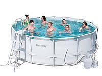 Каркасный бассейн BestWay 427х122 см + песочный насос (56276)