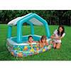 Бассейн детский надувной c навесом INTEX 157х157х122 см (57470)