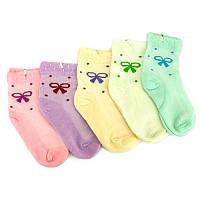 """Детские носки для девочки """"Бантик"""" р.23-26"""