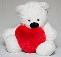 Мягкая игрушка мишка Бублик 65 см  Мишка с сердцем