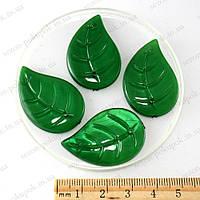 Пришивной элемент - бусина, лист большой,  цена за 10 штук