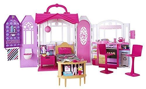 Переносний будиночок і 20 предметів для ляльки Барбі Barbie Glam Getaway House Оригінал з США