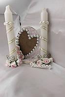 Свадебный набор: свечи и рамка для фото