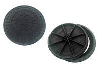 Канализационный люк полимер-песчаный садовый 1,5 т (А15)