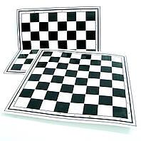 Доска картонная для игры в шашки и шахматы
